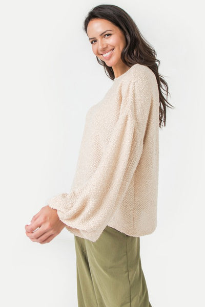 Taupe Textured Top