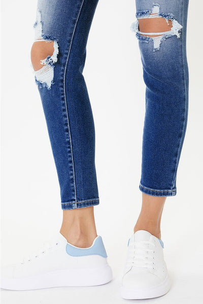 Sharon High Rise Distressed Skinny Jeans