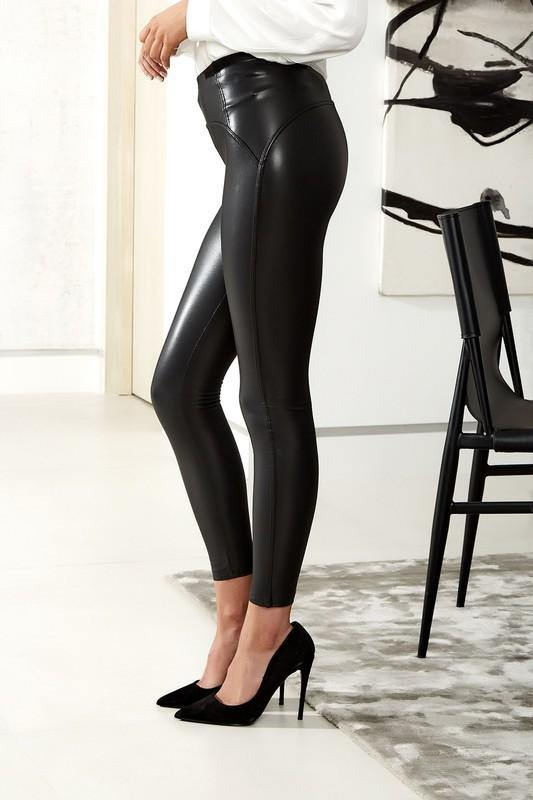 Black High Waisted Premium Leggings - THE WEARHOUSE