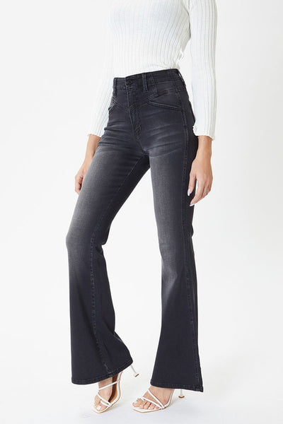 Brynlee Black Ultra High Rise Flare Jeans