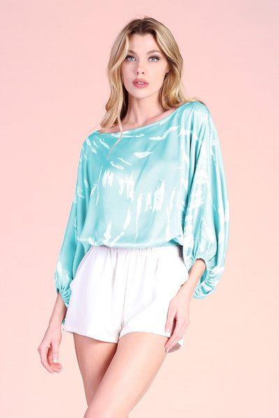 Mint Colored Eternal Essence Satin Top