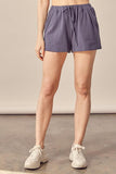Steel Grey Elastic Banded Shorts