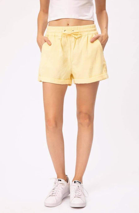 Yellow Embroidered Puff Sleeve Top