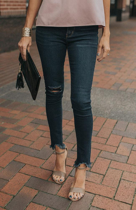 Soft Denim Paper Bag Pants