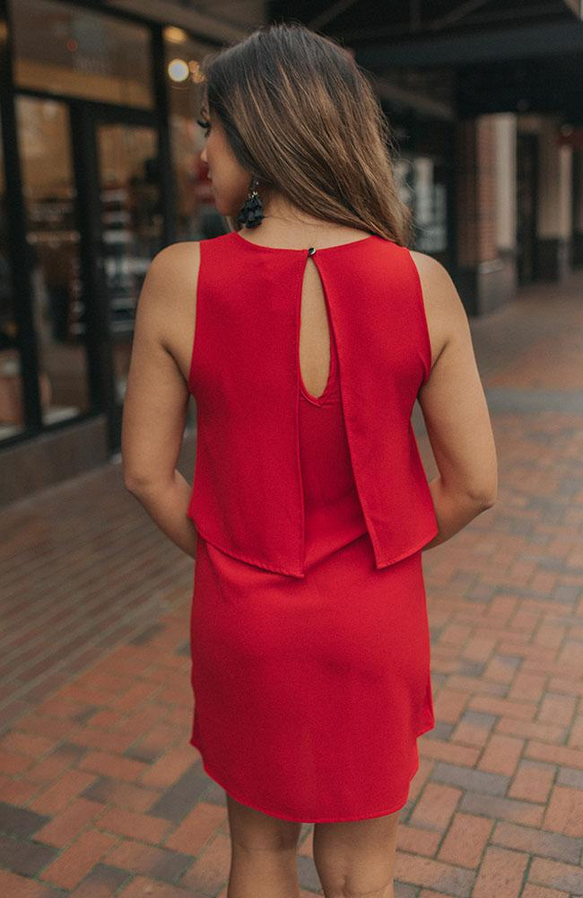 Red Dress with Front Tie