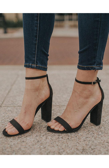 Black Braided Tie Heels