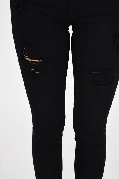 Black Modern Raw Skinny Jeans - THE WEARHOUSE