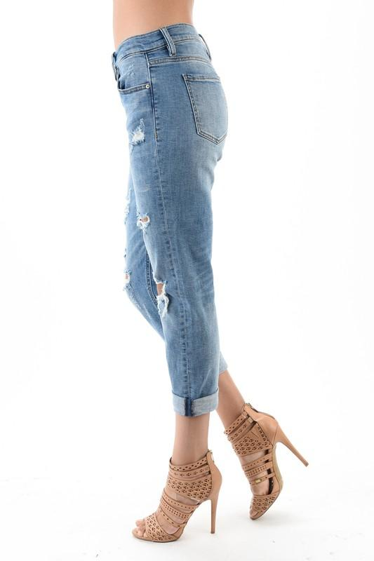Kayla Low Rise Girlfriend Jeans