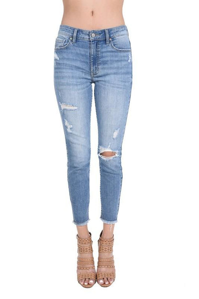 Katie High Rise Skinny Crop Jeans