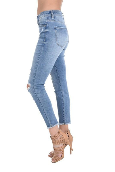 Katie High Rise Skinny Crop Jeans - THE WEARHOUSE
