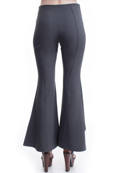 Charcoal Wide Leg Pants - THE WEARHOUSE
