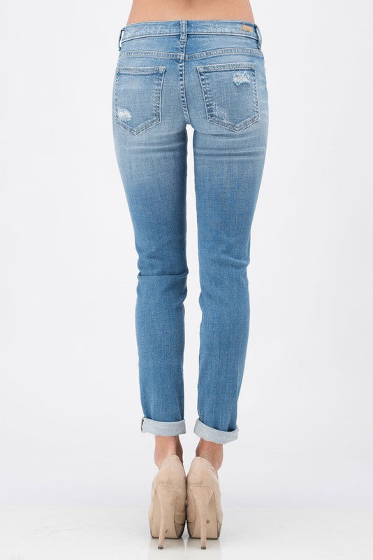 Mid-Rise Boyfriend Jeans - THE WEARHOUSE