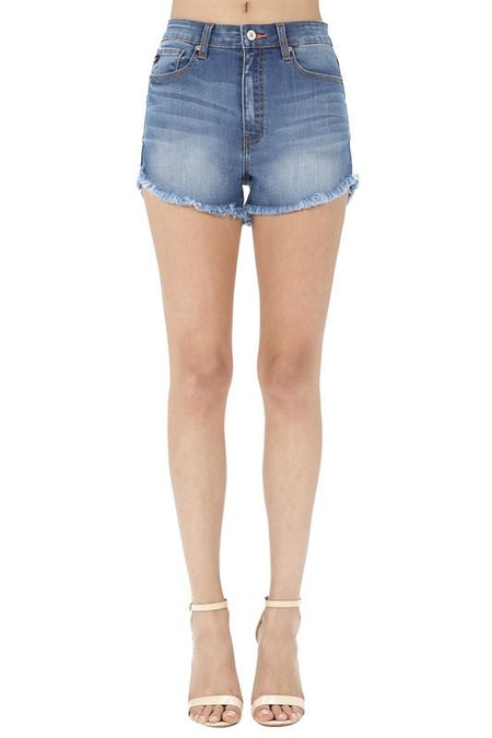 """The Ashley"" Button Down Denim Skirt"