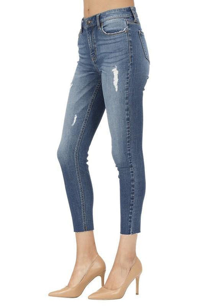 Clara High Rise Skinny Crop Jeans