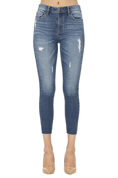 Channa B High Rise Skinny Crop Jeans