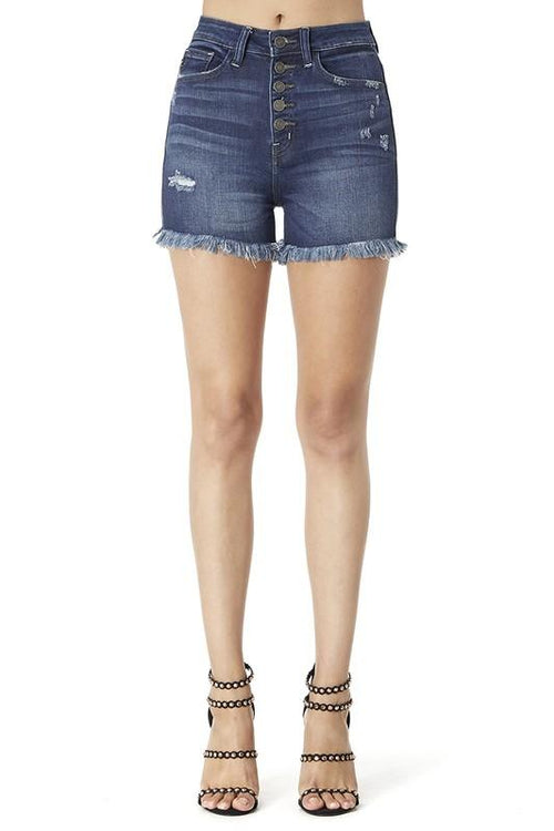 """The Nichole"" Button up Denim Shorts"