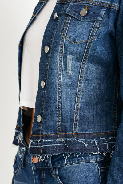 Dark Double Layered Denim Jacket