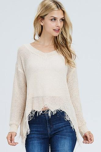 Ivory Lighweight Knit Sweater