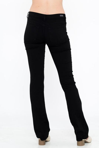 Allison Black Mid Rise Boot Cut Jeans - THE WEARHOUSE
