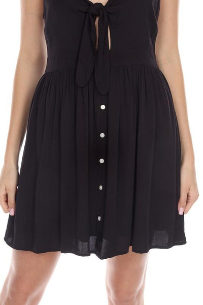 Black Woven Baby Doll Dress - THE WEARHOUSE