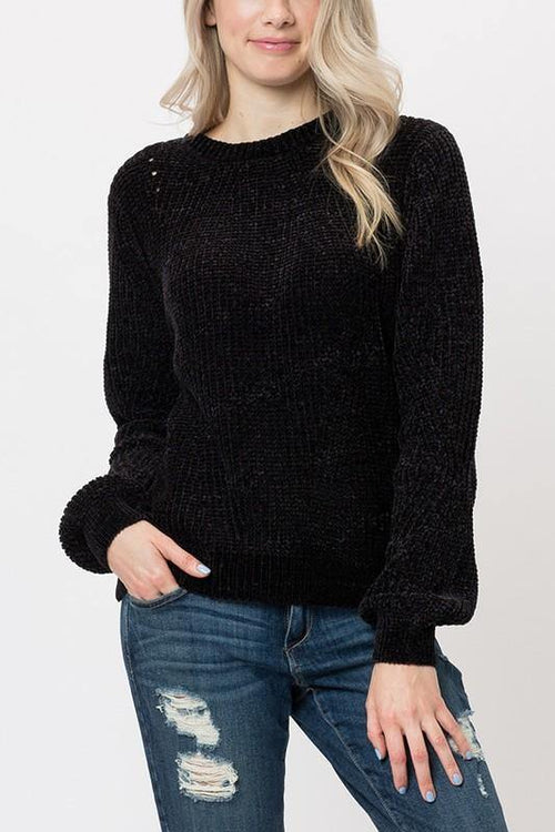 Black Cozy Sweater - THE WEARHOUSE