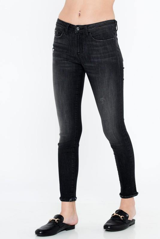 Nikki Black Mid Rise Ankle Skinny Jeans - THE WEARHOUSE