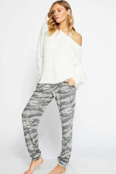 Charcoal Camouflage Terry Pants