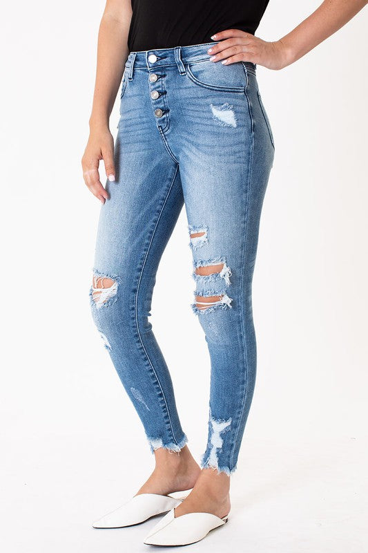 Chantal High Rise Skinny Jeans
