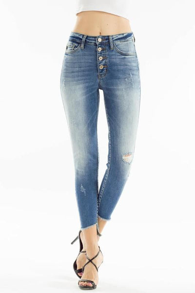 Stephanie High Rise Ankle Skinny Jeans