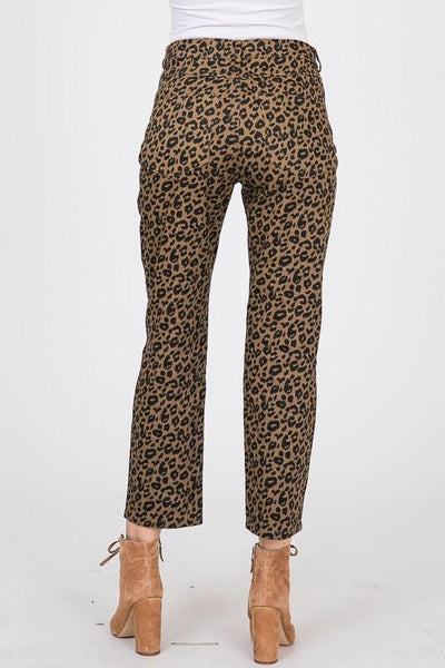 Leopard Print Pants with Pockets