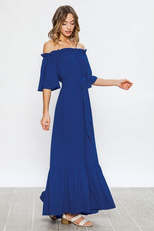 Royal Blue Dreamy Maxi Dress