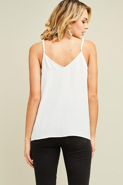 Off White Button Up Camisole