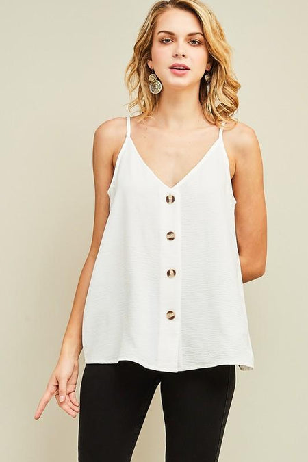 Dusty Rose Button Draped Top