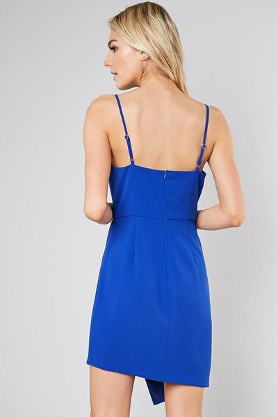Blue Double Skirt Fitted Dress