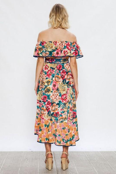 5f7140b0817 Multi Colored Floral Maxi Dress – THE WEARHOUSE
