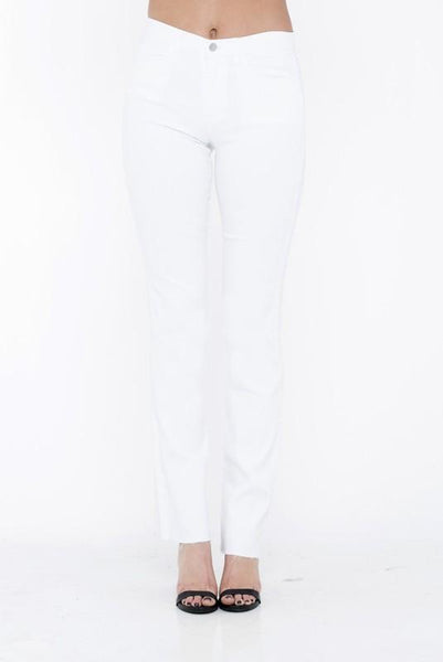 Willa White Mid Rise Mini Boot Cut Jeans - THE WEARHOUSE