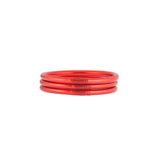 BudhaGirl Crimson All Weather Bangles -Serenity Prayer