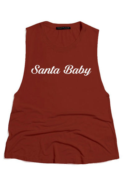 Santa Baby Round Neck Scoop Tank - THE WEARHOUSE