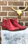 Bismark Red Bootie - THE WEARHOUSE