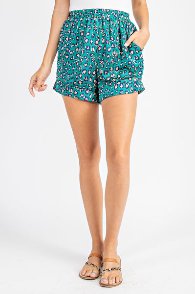 Leopard Print Shorts - THE WEARHOUSE