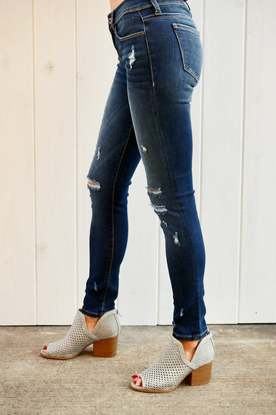 Distressed Low Rise Skinny - THE WEARHOUSE