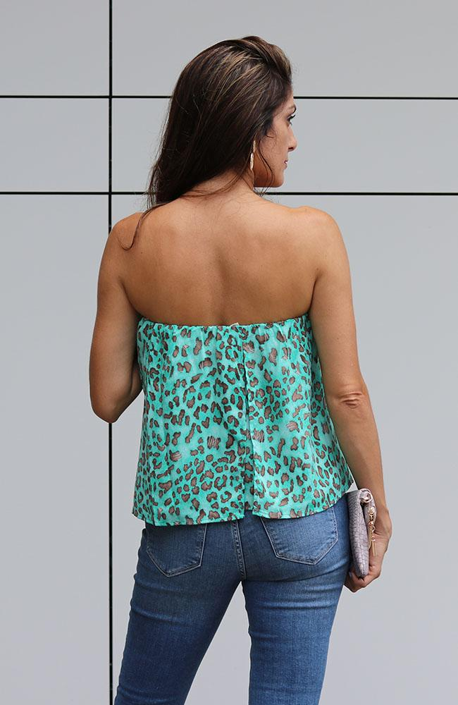 Turquoise Beauty Strapless Top