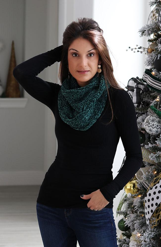 Emerald Green Infinity Neck Scarf