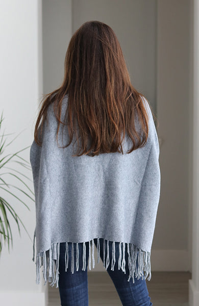 Grey Oversized Turtleneck