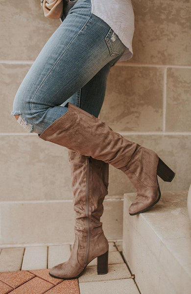 Casey Taupe High Boot - THE WEARHOUSE