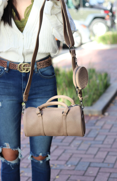 Cream Colored Tootsie Tube Bag