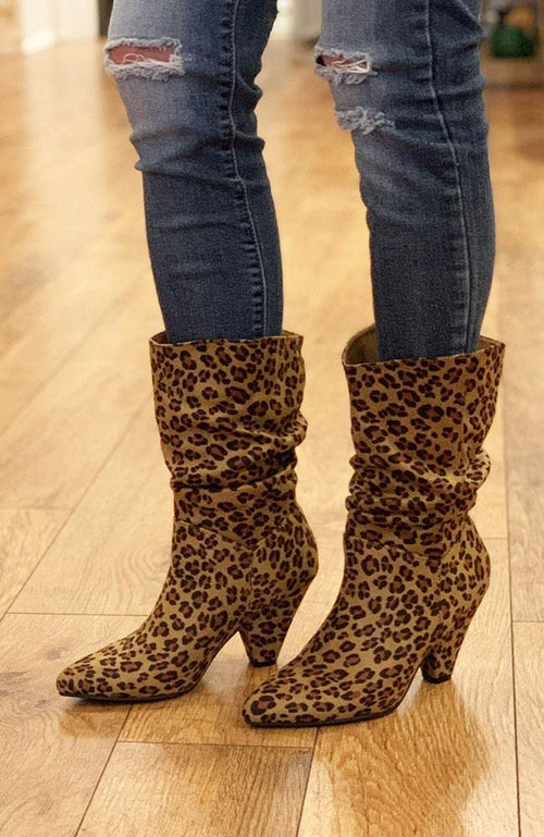 Darby Leopard Boot - THE WEARHOUSE