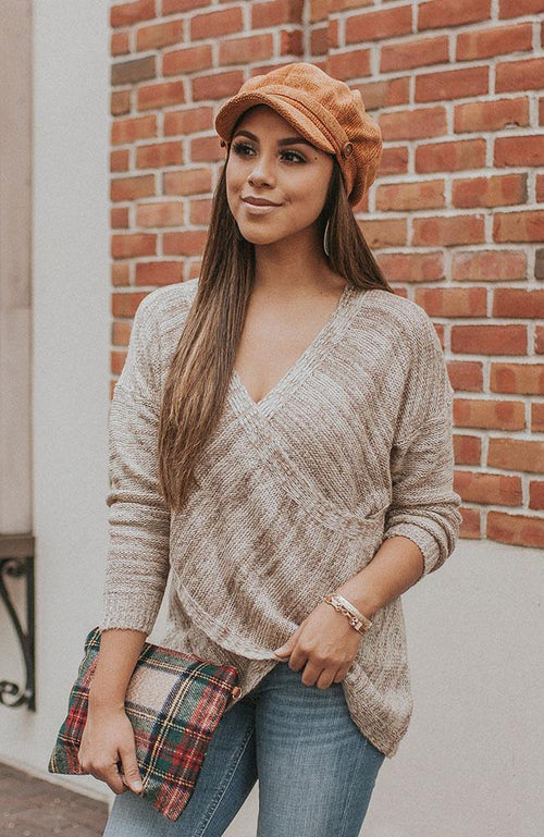 Cross Body Brown Sweater