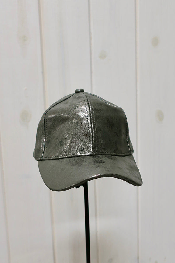 Faux Leather Metalic Ball Cap - THE WEARHOUSE