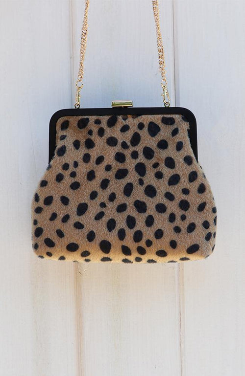 Leopard Print Cross Body Purse